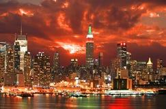 city new skyline york Στοκ φωτογραφία με δικαίωμα ελεύθερης χρήσης