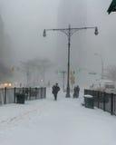city new snow york Στοκ Εικόνες