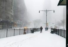 city new snow york Στοκ Φωτογραφίες