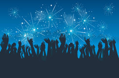 City New Year Party Royalty Free Stock Image