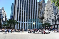 Office of Apple in New York stock images