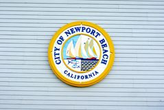 City of Newport Beach California Emblem Stock Photo