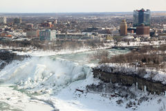City of Niagara Falls New York Winter Royalty Free Stock Photo