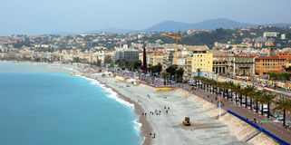 City of Nice - Architecture along Promenade des Anglais Royalty Free Stock Photos