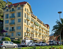 City of Nice - Architecture along Promenade des Anglais Stock Images