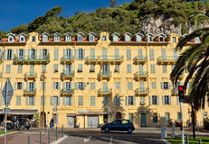 City of Nice - Architecture along Promenade des Anglais Royalty Free Stock Photography