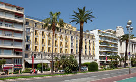 City of Nice - Architecture along Promenade des Anglais Stock Photo