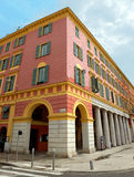 City of Nice - Architecture of buildings on the Place Massena Stock Images