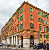 City of Nice - Architecture of buildings on the Place Massena Stock Image