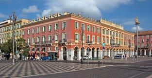 City of Nice - Architecture of Place Massena Royalty Free Stock Photo
