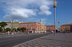 City of Nice - Architecture of Place Massena Stock Photos