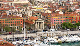 City of Nice - Architecture of Port de Nice Stock Image
