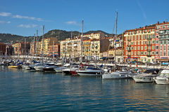 City of Nice - Architecture of Port de Nice Stock Photo