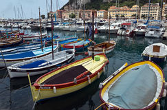 City of Nice - Colorful boats Stock Photography