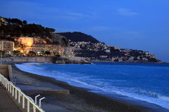 City of Nice at Dusk Stock Photo