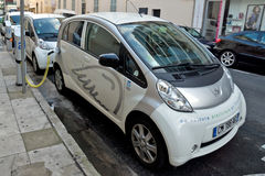 City of Nice - Electric cars Royalty Free Stock Images
