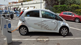 City of Nice - Electric drive car Royalty Free Stock Photography