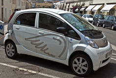 City of Nice - Electric drive car Royalty Free Stock Photos