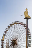 City of Nice with ferry wheel and sculptures Royalty Free Stock Images