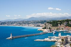 City of Nice in France Royalty Free Stock Image