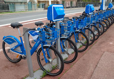 City of Nice, France - Bicycles Stock Photography