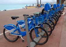 City of Nice, France - Bicycles Stock Images