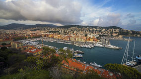 City of Nice harbor Stock Image