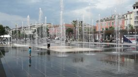 City of Nice - Lovely fountain stock footage