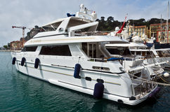 City of Nice - Luxury yacht in the port of Port de Nice Royalty Free Stock Images