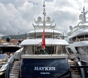 City of Nice - Luxury yacht in the port of Port de Nice Stock Photo
