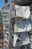 City of Nice - Newspapers on sale in a newsstand Stock Photo