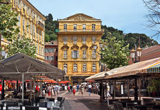 City of Nice - Old building in the Cours Saleya Royalty Free Stock Photography