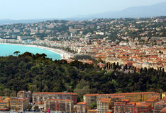 City of Nice - Panoramic view of district Villefranche-sur-Mer Royalty Free Stock Photo