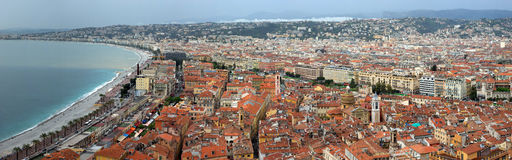 City of Nice - Panoramic view Royalty Free Stock Images