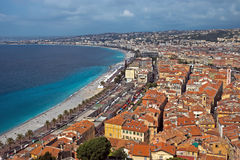 City of Nice - Panoramic view Royalty Free Stock Photo
