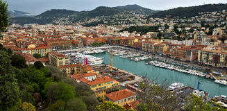 City of Nice - Panoramic view of Port de Nice Royalty Free Stock Photo