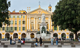 City of Nice - Place Garibaldi in Vieille Ville Stock Photos