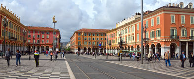 City of Nice - Place Massena Stock Images