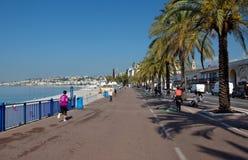 City of Nice - Promenade des Anglais Stock Image