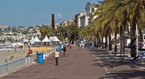 City of Nice - Promenade des Anglais Stock Photos