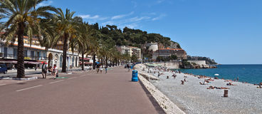 City of Nice - Promenade des Anglais Royalty Free Stock Photography