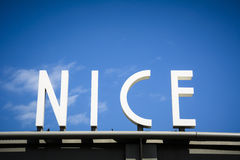 City of Nice sign on French Riviera Royalty Free Stock Photo