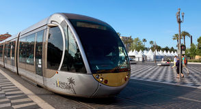 City of Nice - Tram in the city Stock Photography