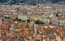 City of Nice - View of the city from above Royalty Free Stock Photos