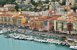 City of Nice - View of Port de Nice Royalty Free Stock Images
