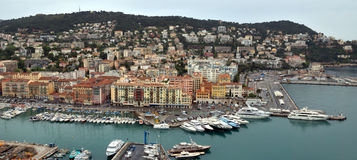 City of Nice - View of Port de Nice Royalty Free Stock Photo