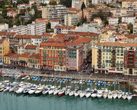 City of Nice - View of Port de Nice Royalty Free Stock Image