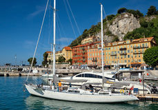 City of Nice - White yachts in the port Royalty Free Stock Photography
