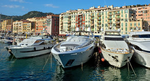 City of Nice - Yachts in the port Stock Photos