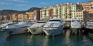 City of Nice - Yachts in the port Royalty Free Stock Images